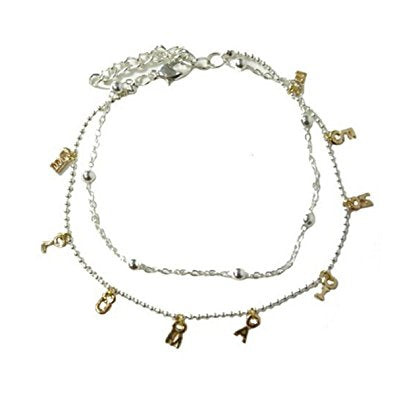 Delicate 2 strand ABC's Anklet