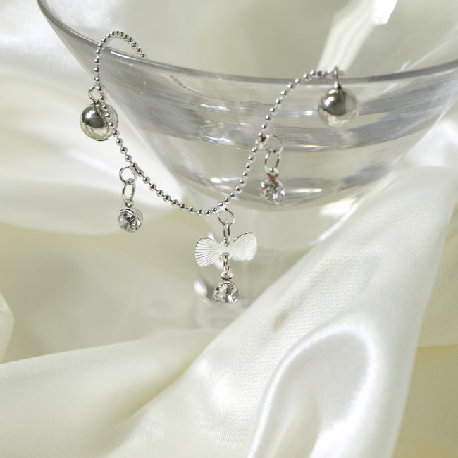 Forget Me Knot Bow Tie Anklet