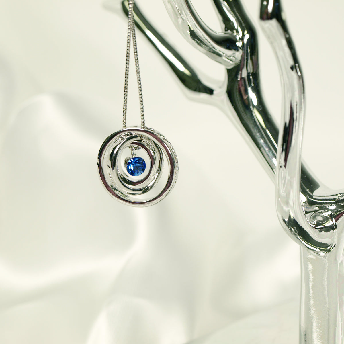 Wish For Luck Triple Rings Pendant Necklace