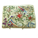 Silk Embroidered Brocade Jewelry Travel Organizer Rolls - 1