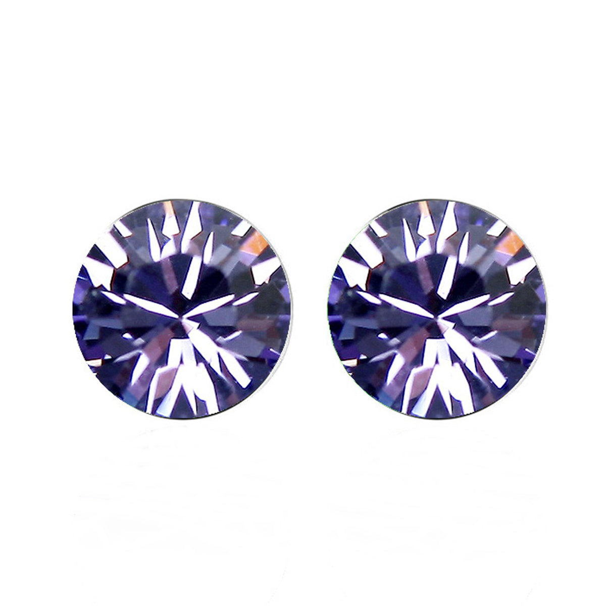 Purple Swarovski Elements Crystal Stud Earrings
