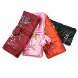 Large Silk Embroidered Jewelry Rolls