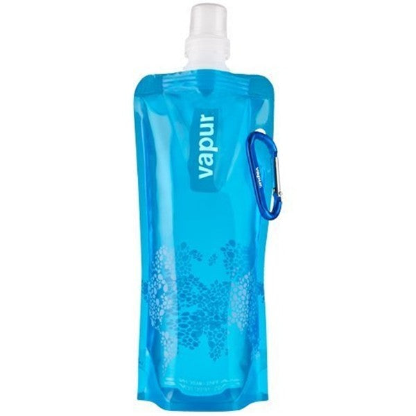 Sporty 16oz Foldable Reusable Water Bottle with Clip