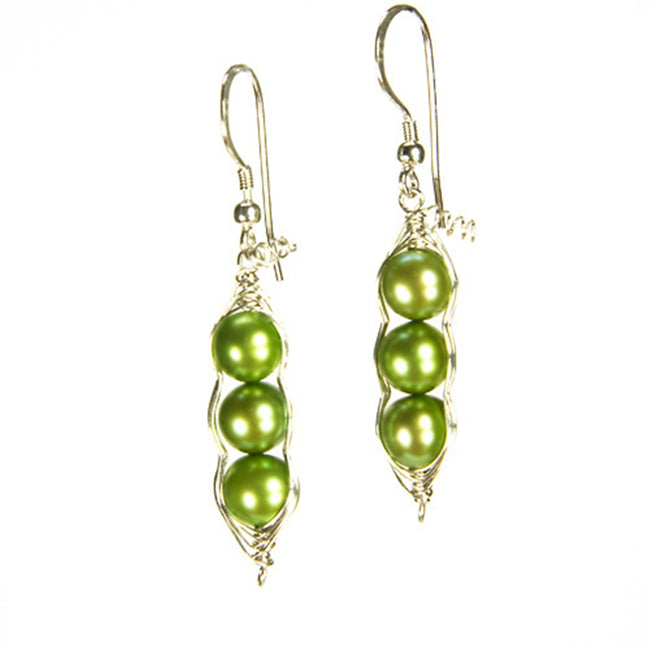 Three Peas in a Pod Freshwater Pearl Earrings