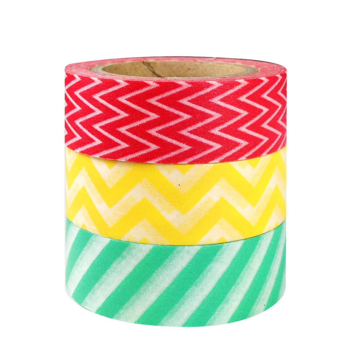 Wrapables Dancing Stripes Japanese Washi Masking Tape (set of 3)