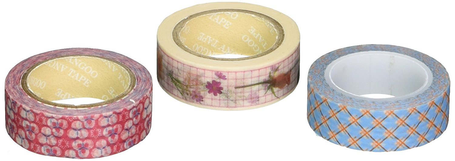 Wrapables Deco Flower Japanese Washi Masking Tape (Set of 3)