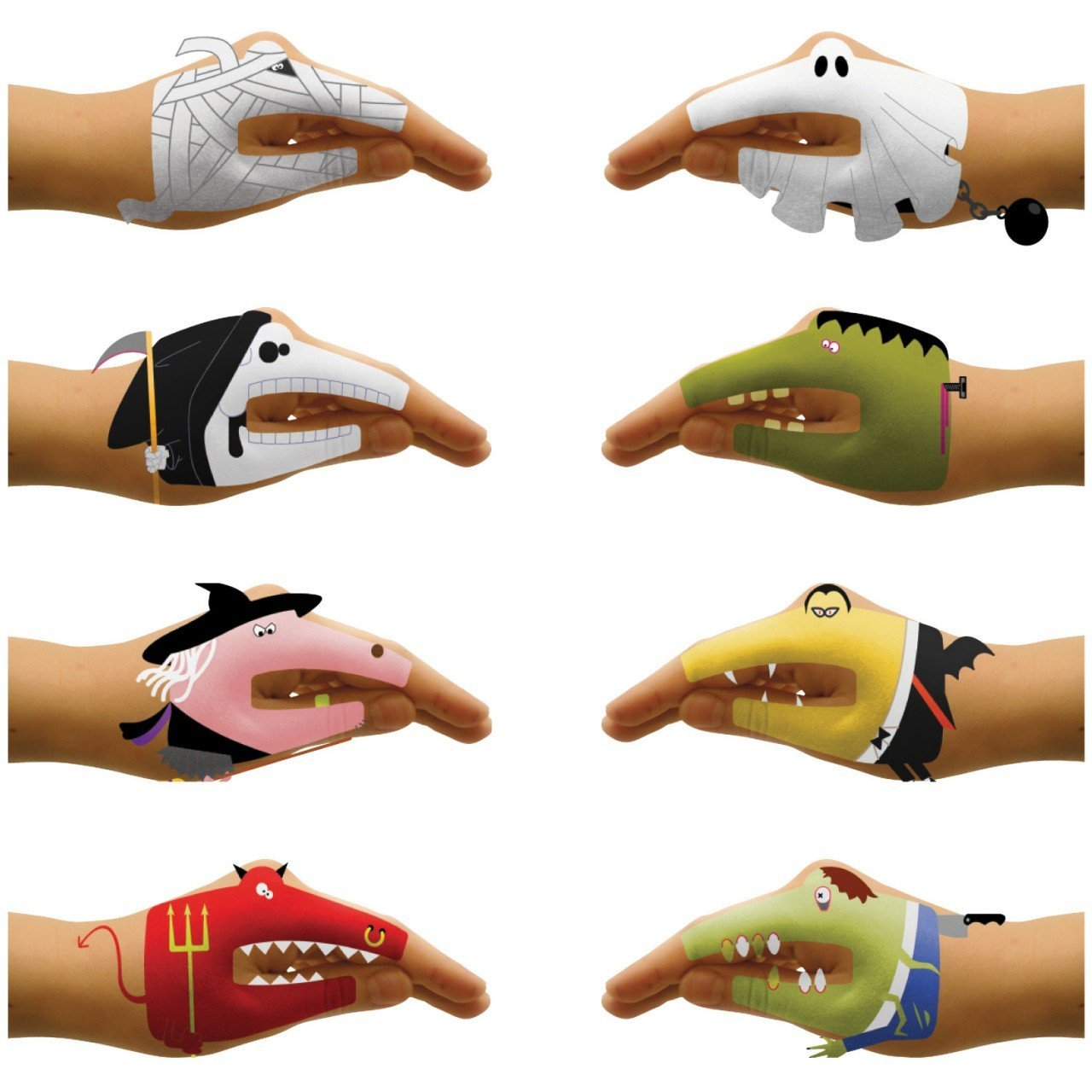 Scary Hands Temporary Talking Hands Tattoo