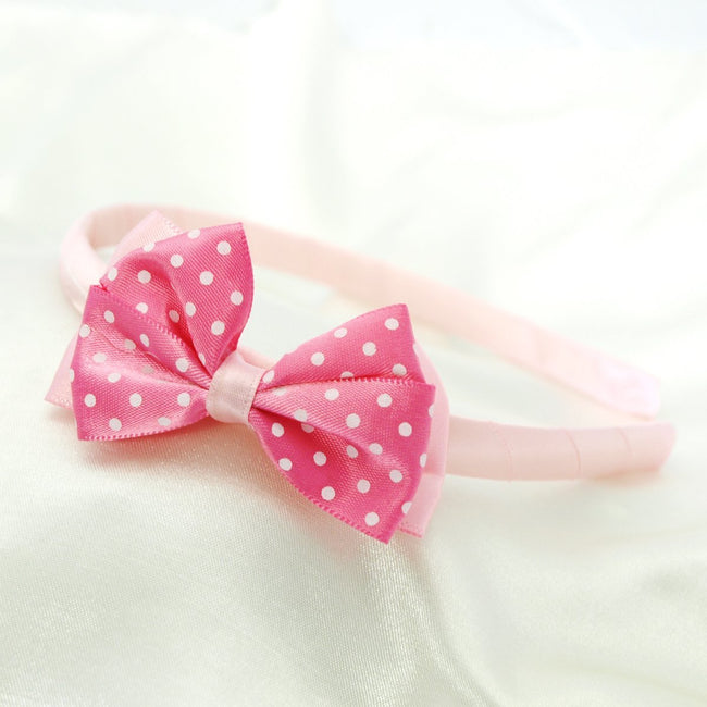 Wrapables Polka Dot Bow Headband for Girls