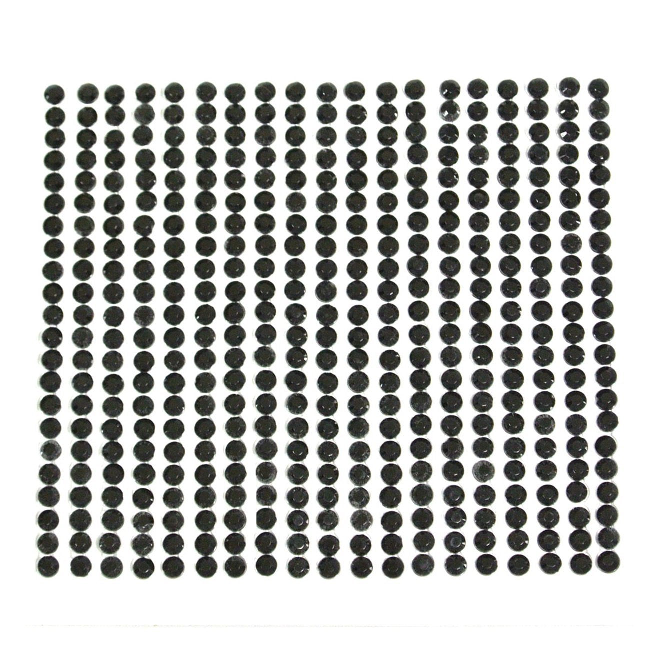 Wrapables Black Diamond Sticker 4mm Adhesive Rhinestones, 1000 pieces