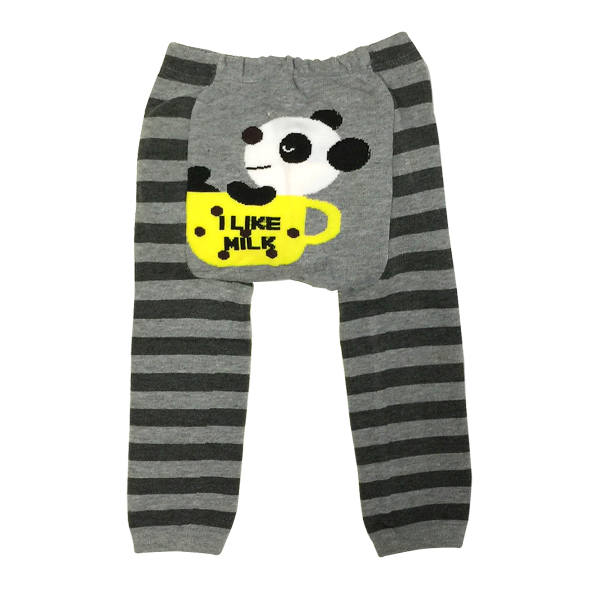 Wrapables Baby & Toddler Busha Leggings, Panda Likes Milk