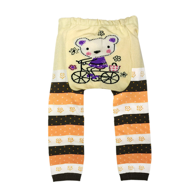 Wrapables Baby & Toddler Busha Leggings, Bear on a Bicycle