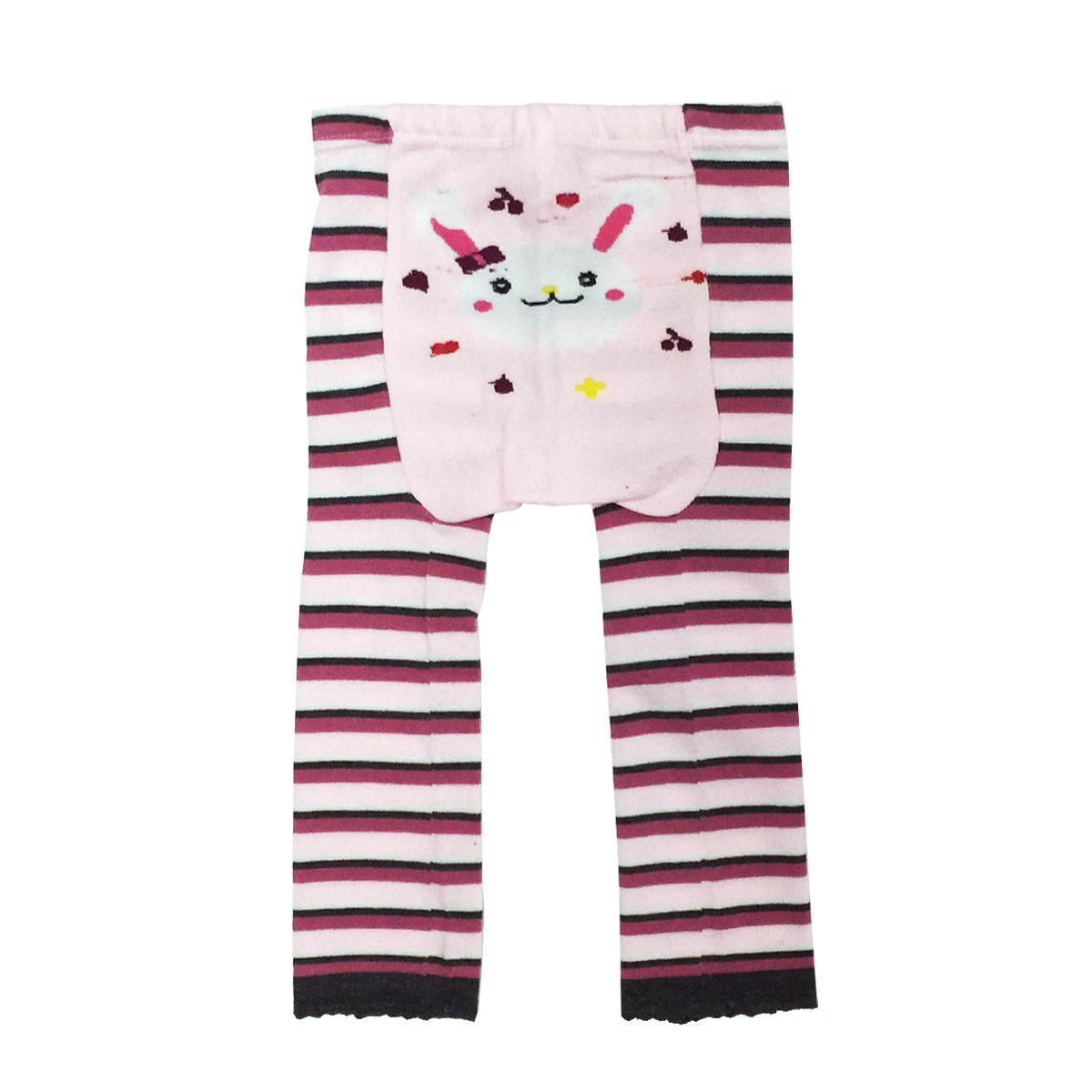 Wrapables Baby & Toddler Busha Leggings, Bunny and Stripes