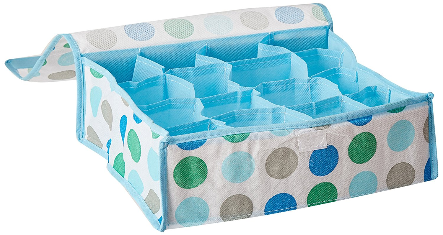 16 Grid Soft Cover Polka Dot Multi-Purpose Foldable Storage Box