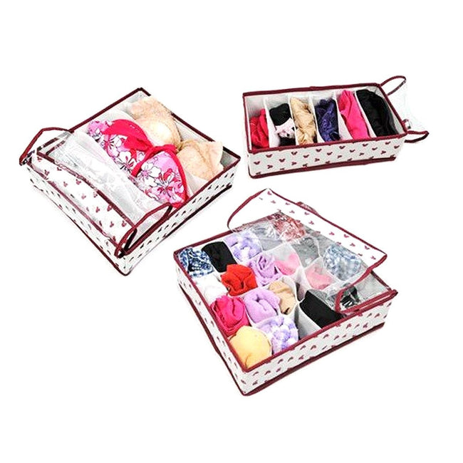 3 Set Foldable Storage Box with Cover