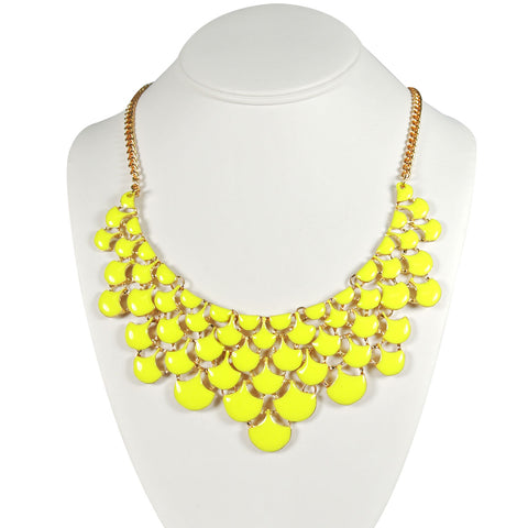 Wrapables Multi-Color Sunflower Teardrop Crystal Statement Necklace