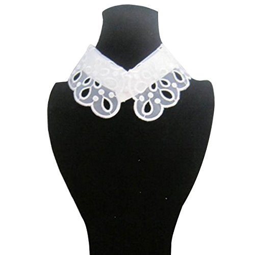 White Romantic Floral Lace Collar Necklace