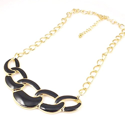 Interlocking Hoops Statement Necklace
