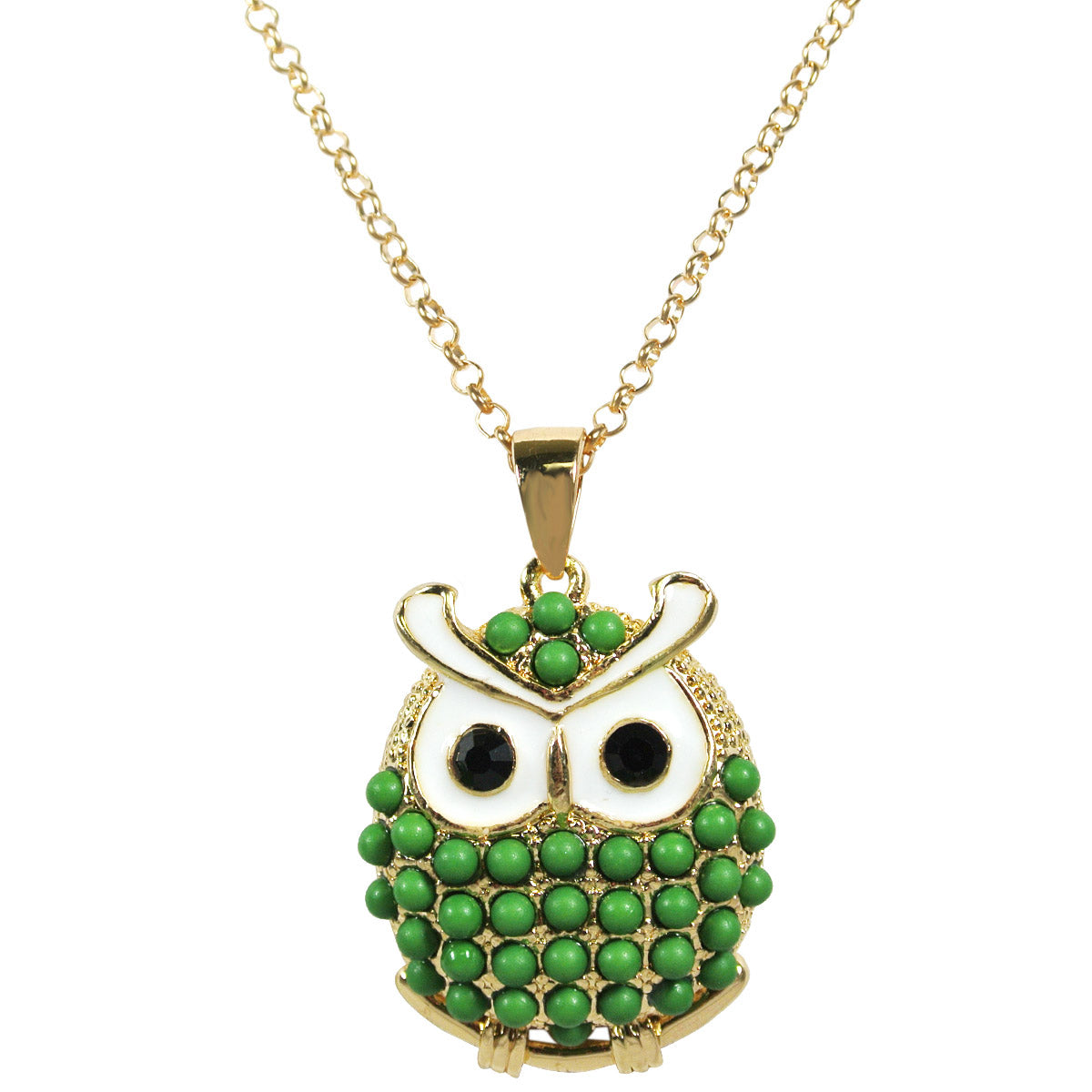 Gold Oliver Owl Long Pendant Necklace