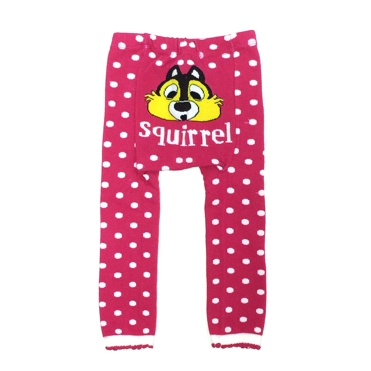 Wrapables Baby & Toddler Busha Leggings, Squirrel and Polka Dots