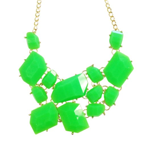 Vibrant Chunky Geometric Bib Necklace