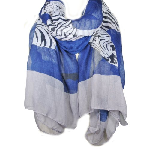Large Zebra Pattern Scarf