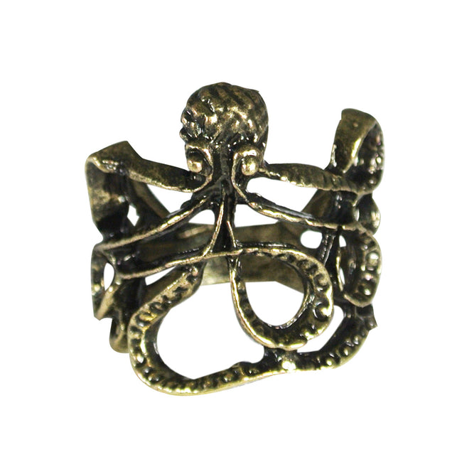 Antique Finish Octopus Ring, Size 6