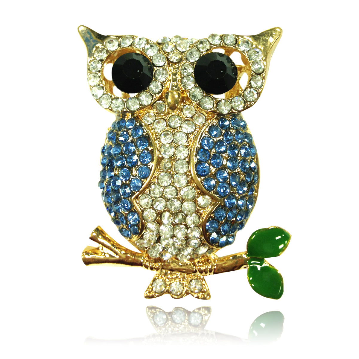 Rhinestones animal owl key chains