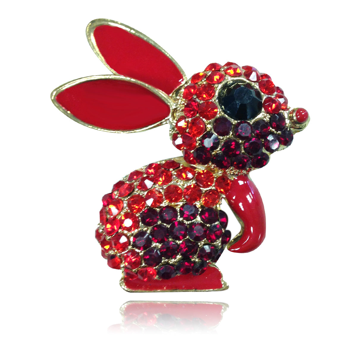 Rhinestones rabbit key chains