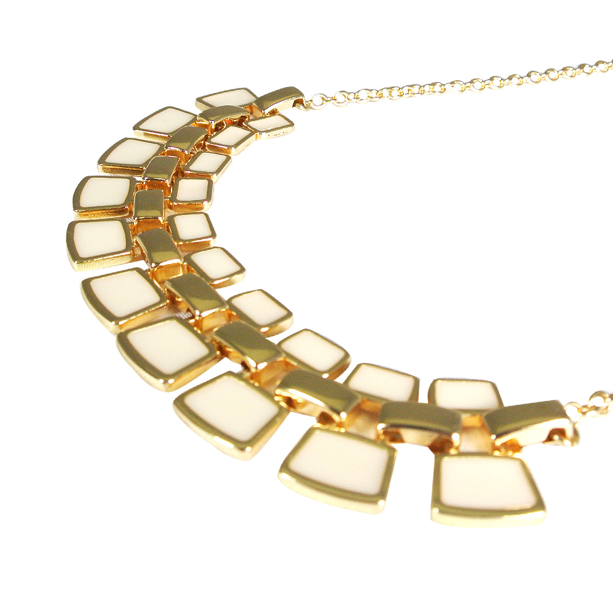 Gold Plated Resin Fashion Statement Necklace