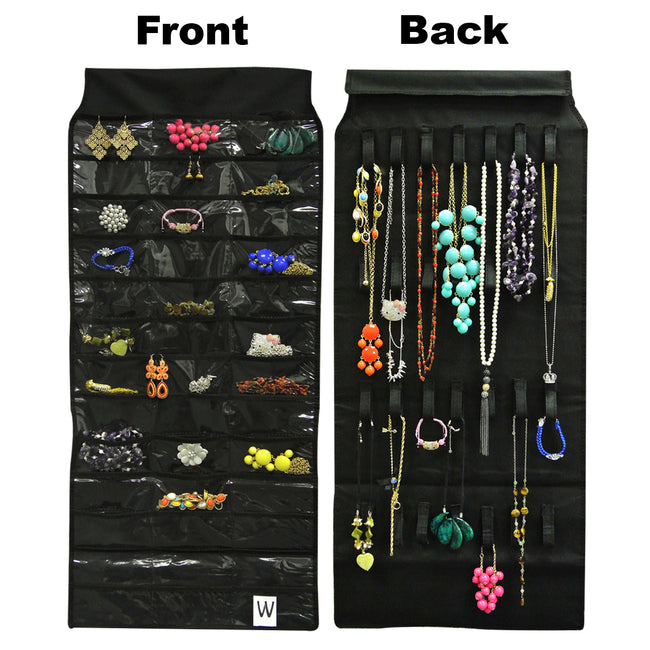 39 Pocket with 28 Holding Loops Polyester Hanging Jewelry Organizer