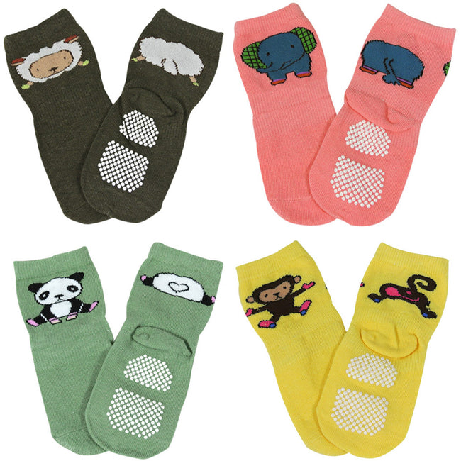Wrapables Animal Fun Non-Skid Baby Socks (Set of 4)