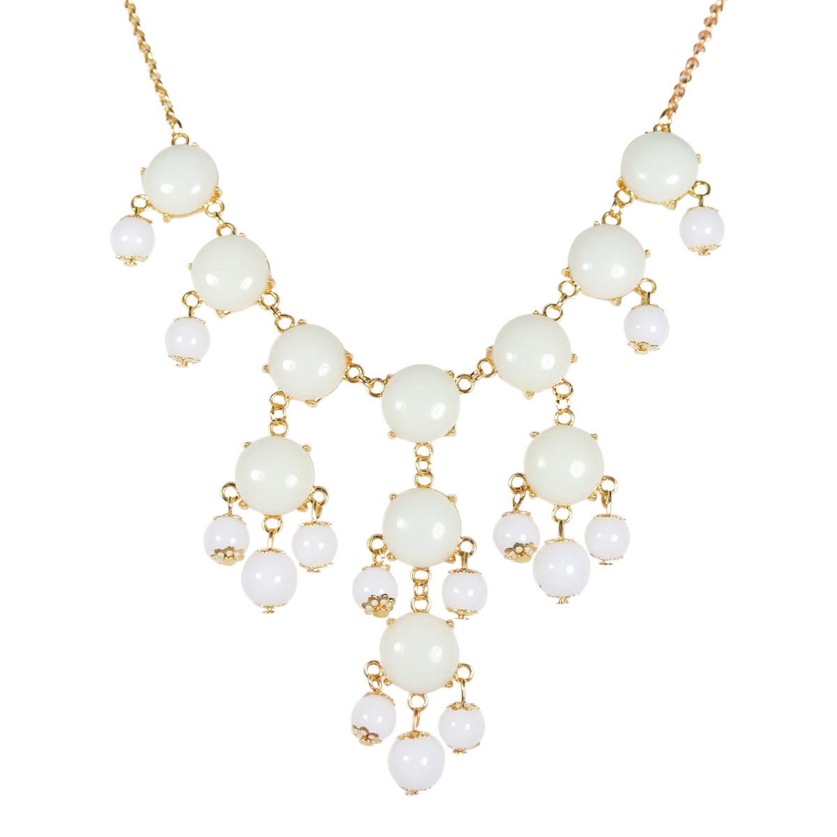 Mini Bubble Bib Statement Necklace