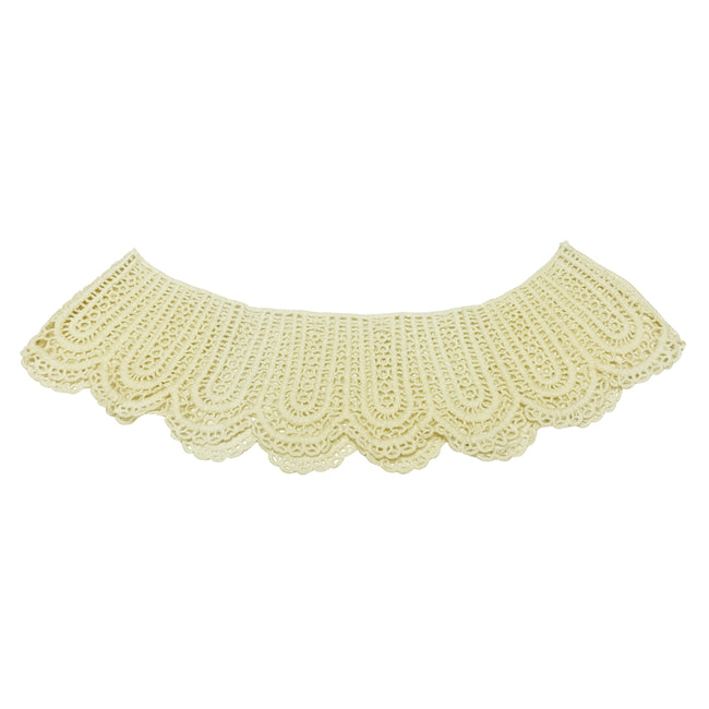 Wrapables Crochet Lace Cream Collar