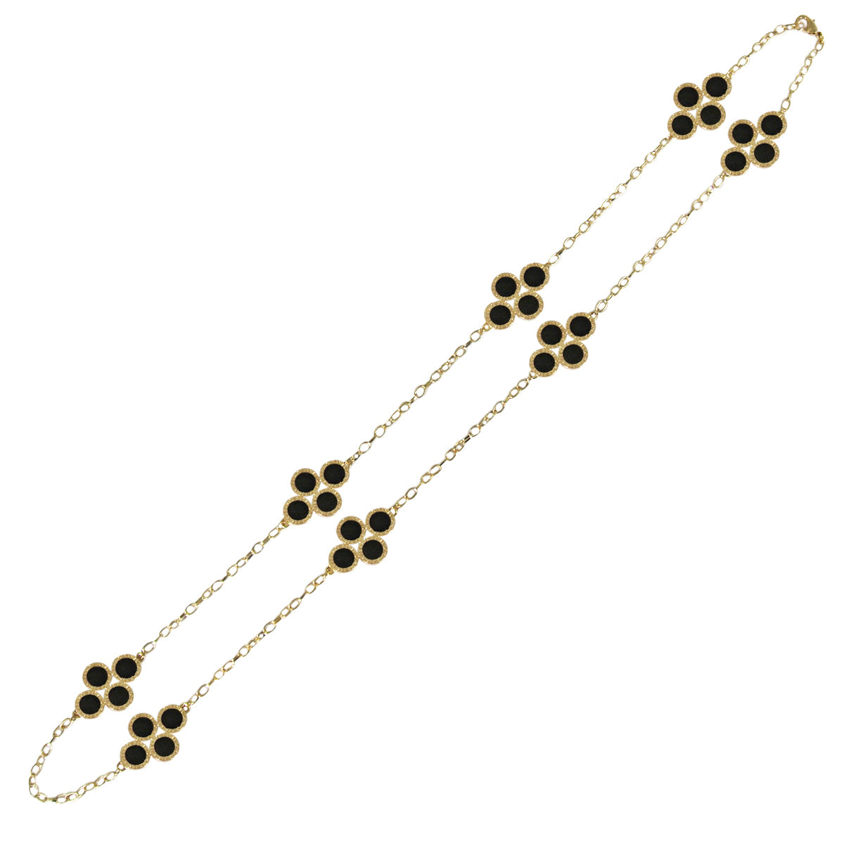 Black Clover Long Chain Necklace