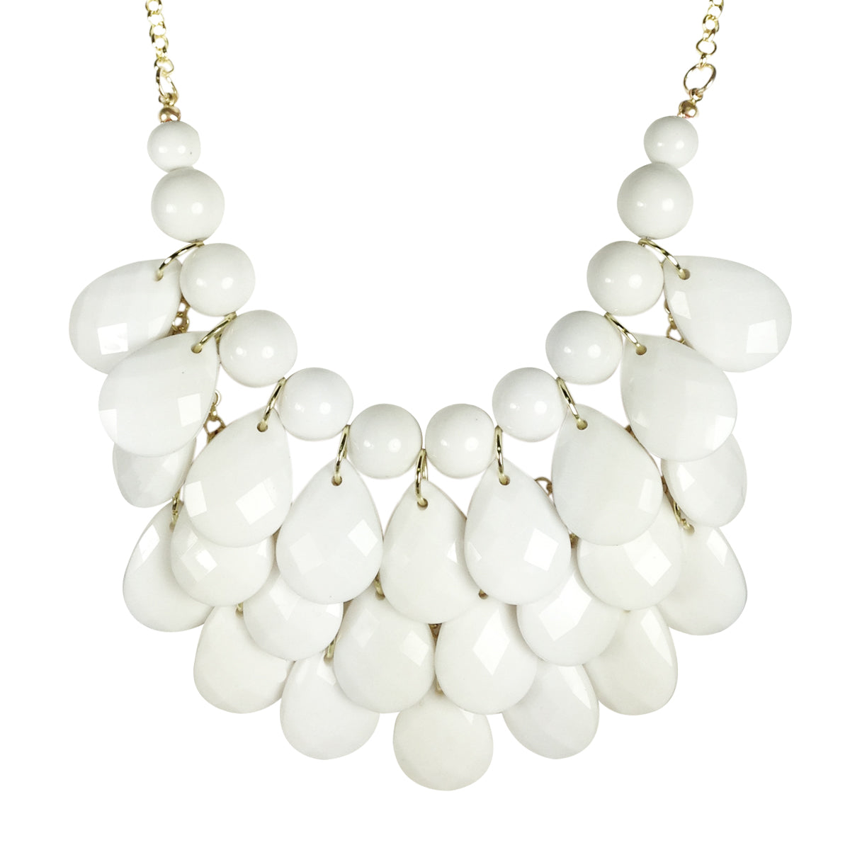 Teardrop Statement Bib Necklace
