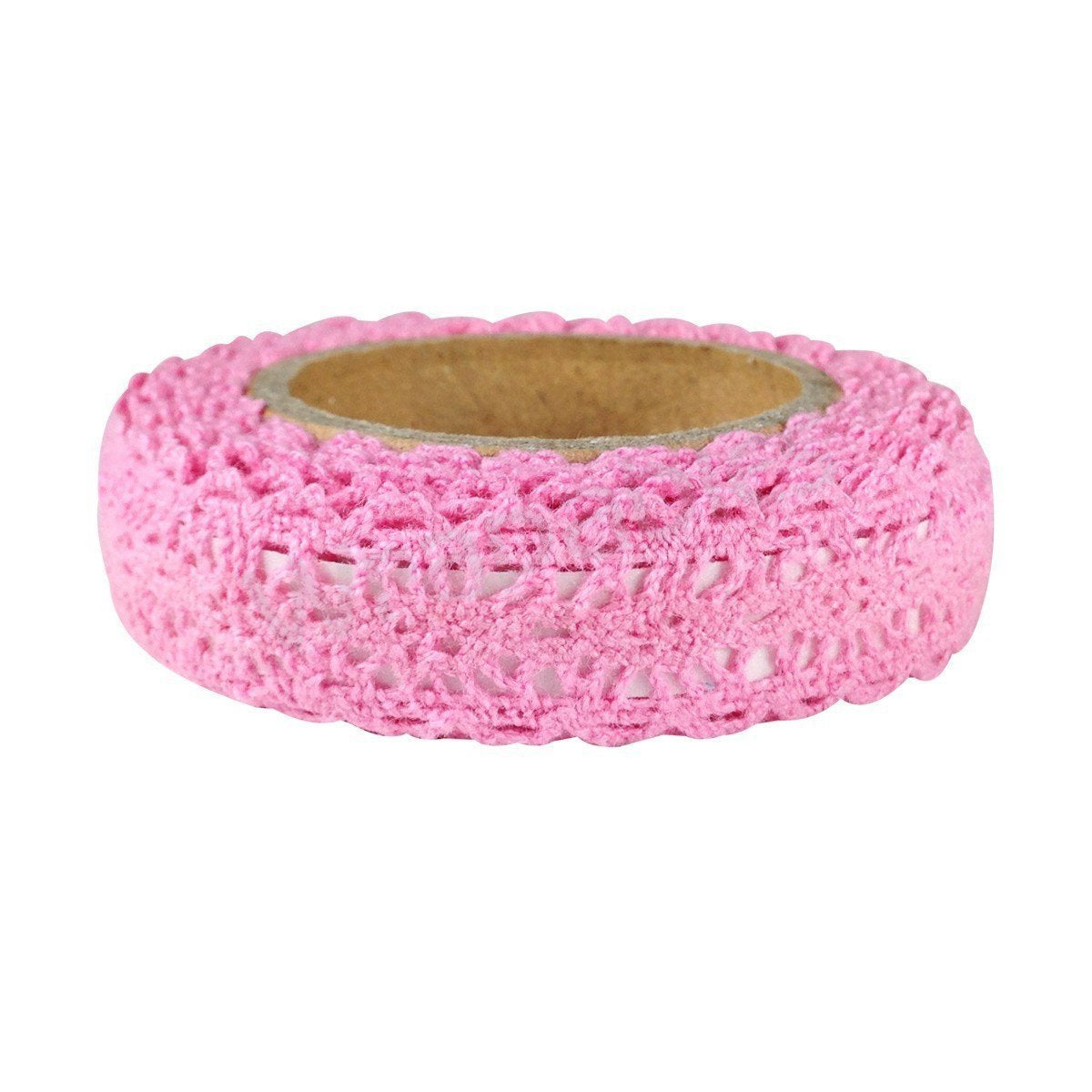 Decorative Lace Tape, 200cm L x 15mm W - Pink