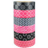 Wrapables Japanese Washi Masking Tape Collection, Premium Value Pack (Set of 6)