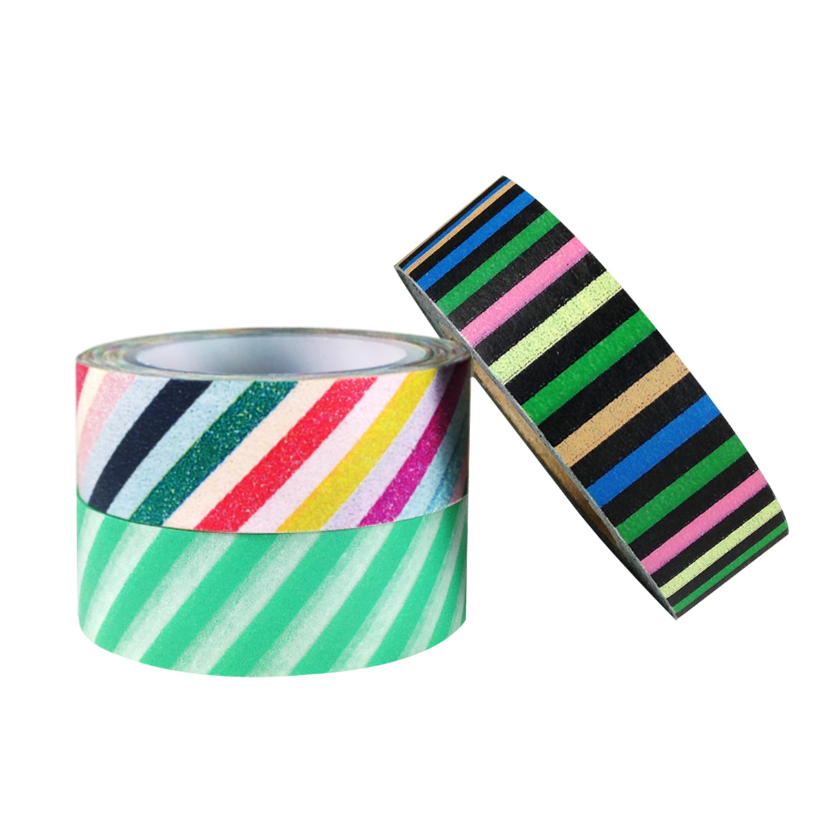 Wrapables Retro Stripes Japanese Washi Masking Tape (set of 3)