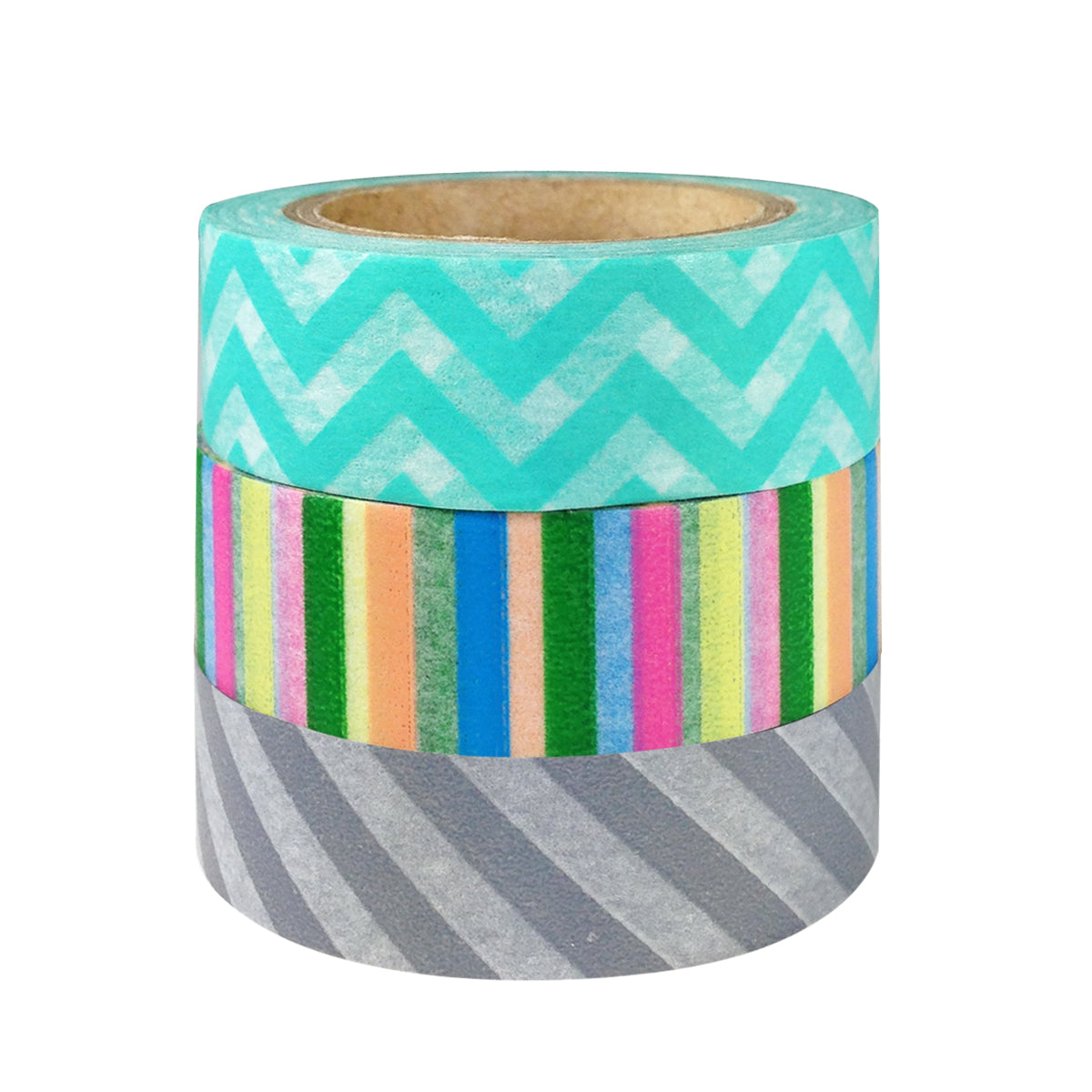 Wrapables Cool Stripes Japanese Washi Masking Tape (set of 3)