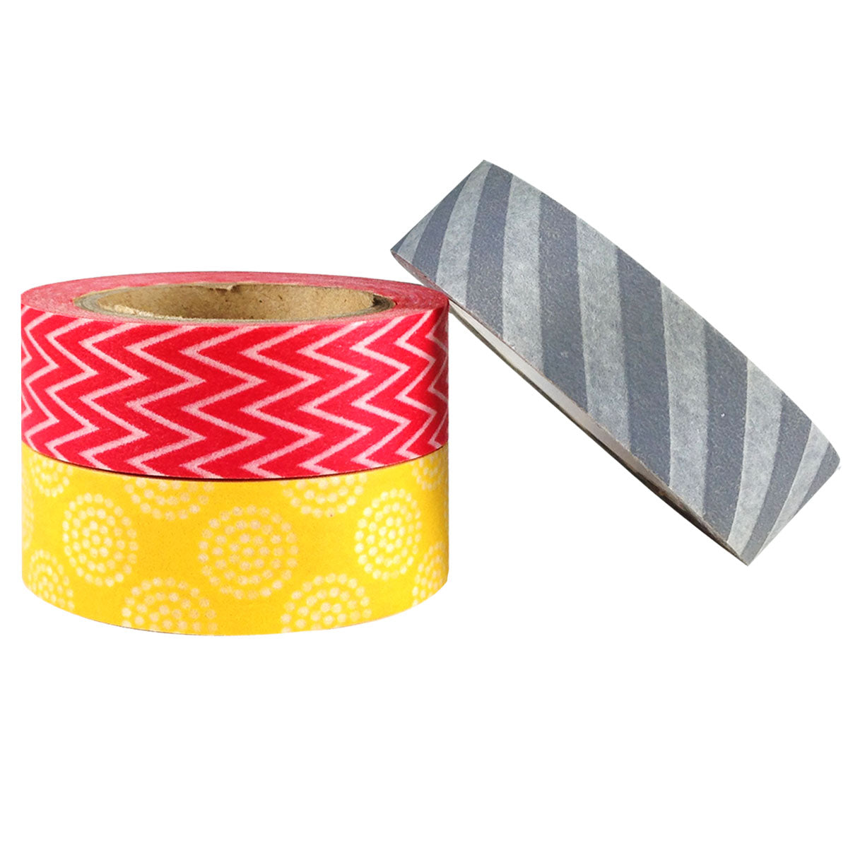 Wrapables Busy Patterns Japanese Washi Masking Tape (Set of 3)