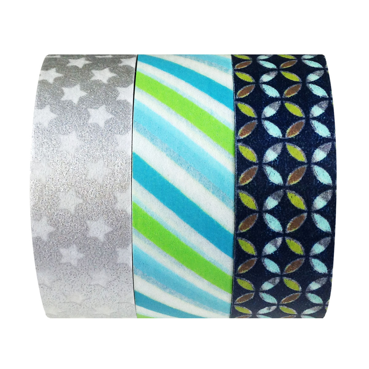 Stars & Stripes Japanese Washi Masking Tape (set of 3)