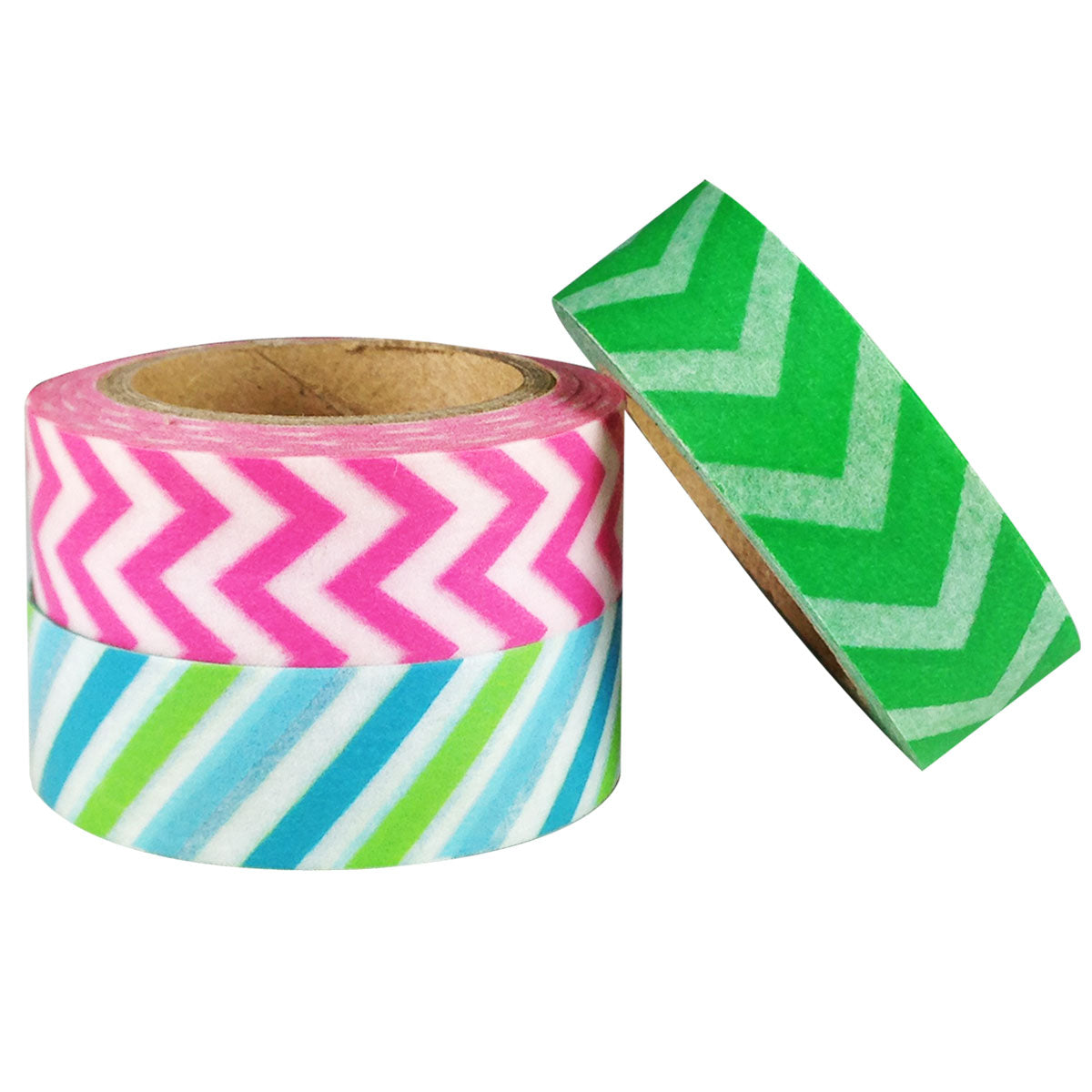 Wrapables Colorful Lines Japanese Washi Masking Tape (Set of 3)