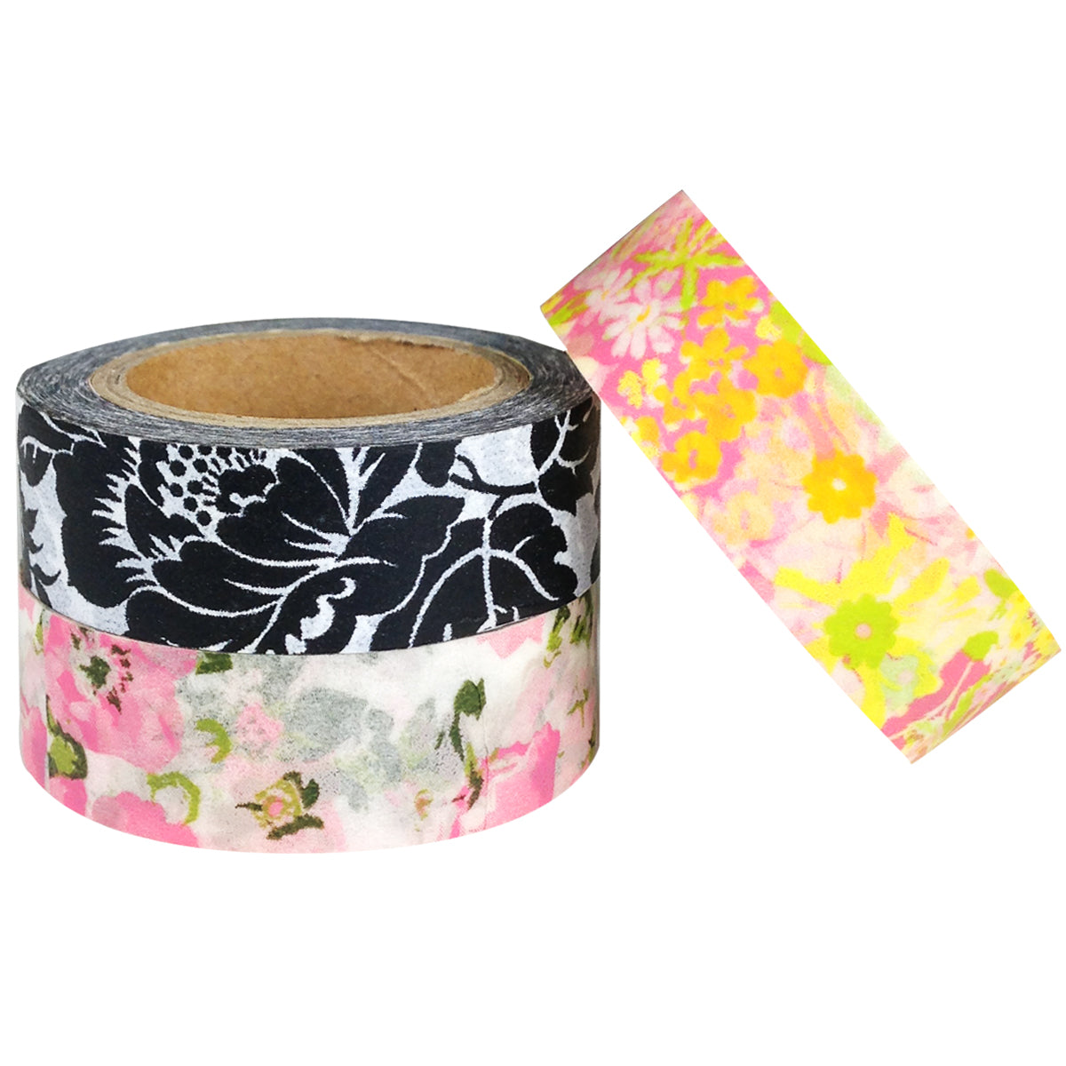 Wrapables Romantic Floral Japanese Washi Masking Tape (set of 3)