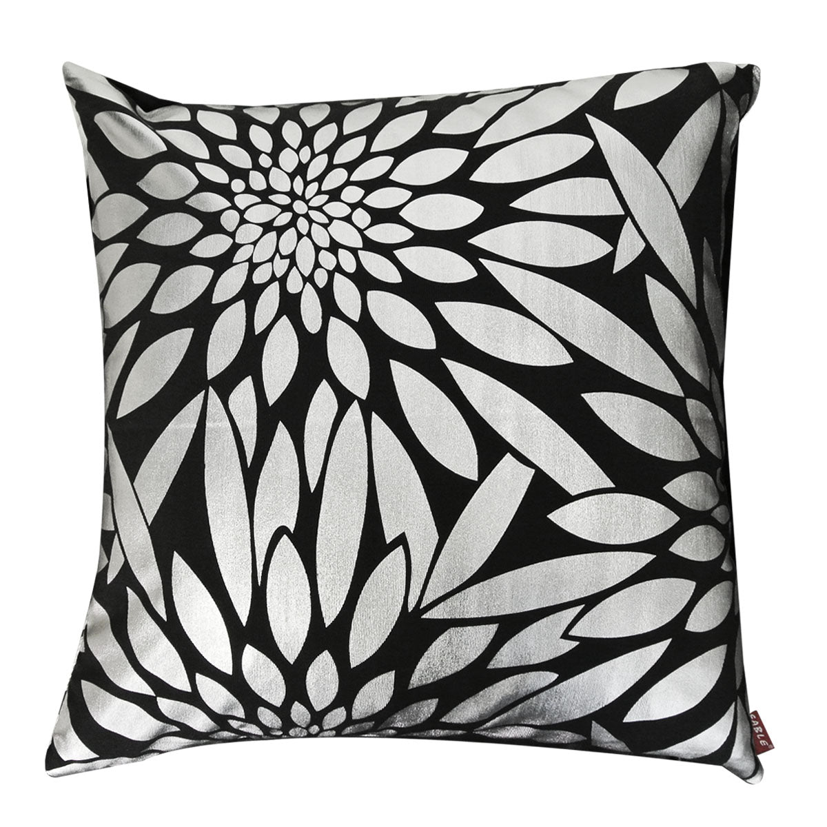 Kella Milla Silver Bloom Throw Pillow Cover