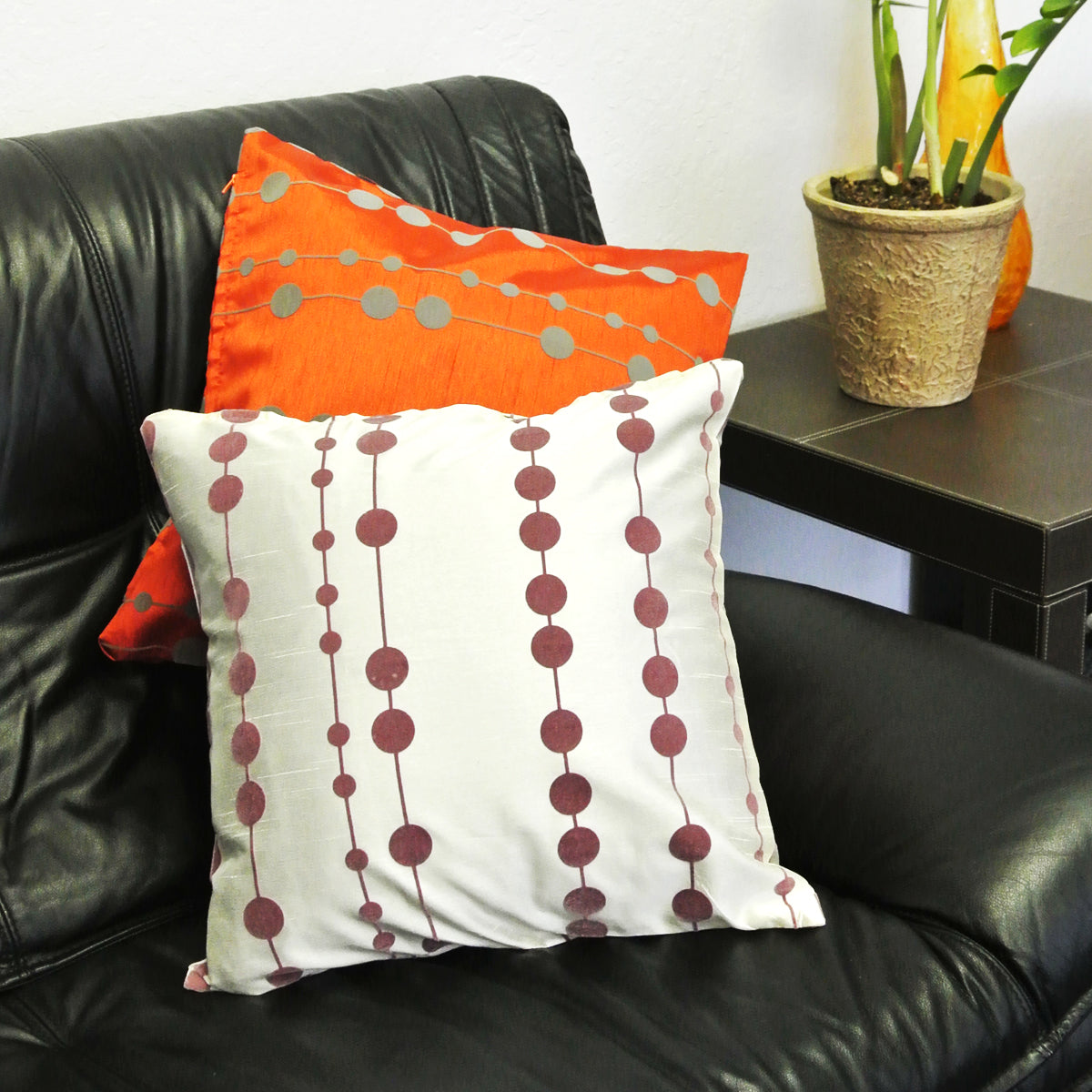 Kella Milla String of Dots Throw Pillow Cover