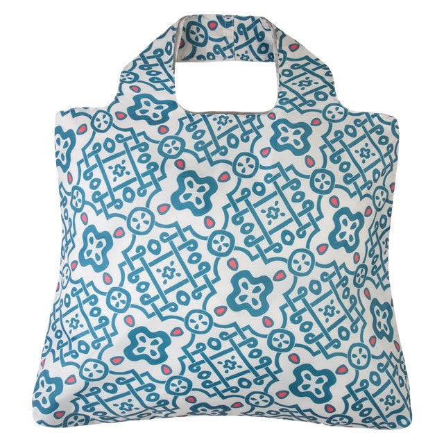 Envirosax Blue Mosaic Sunkissed Reusable Shopping Bag