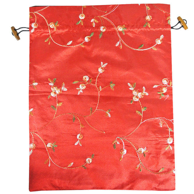 Beautiful Embroidered Silk Travel Bag for Lingerie & Shoes