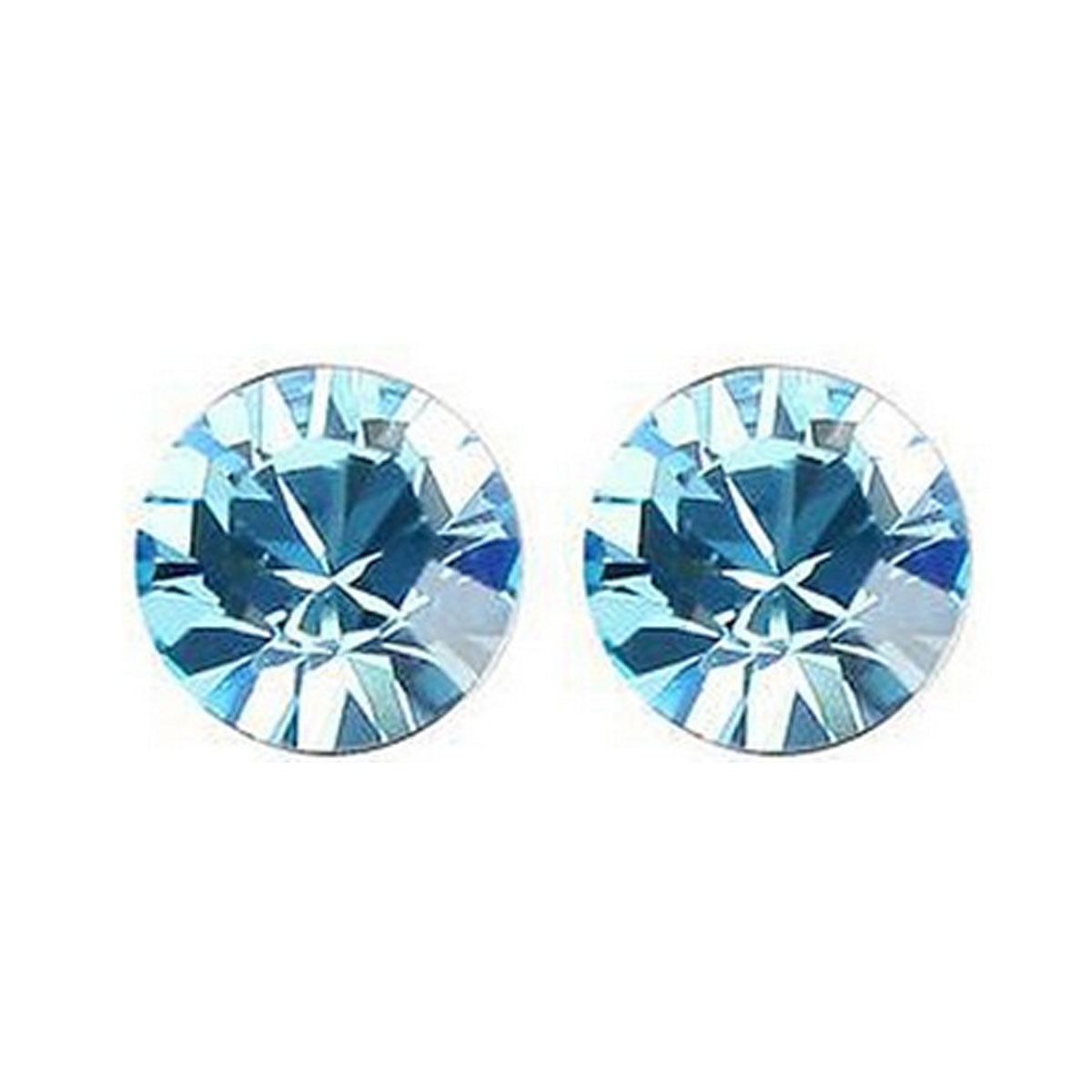 Wrapables Small Sea Blue Swarovski Elements Crystal Stud Earrings
