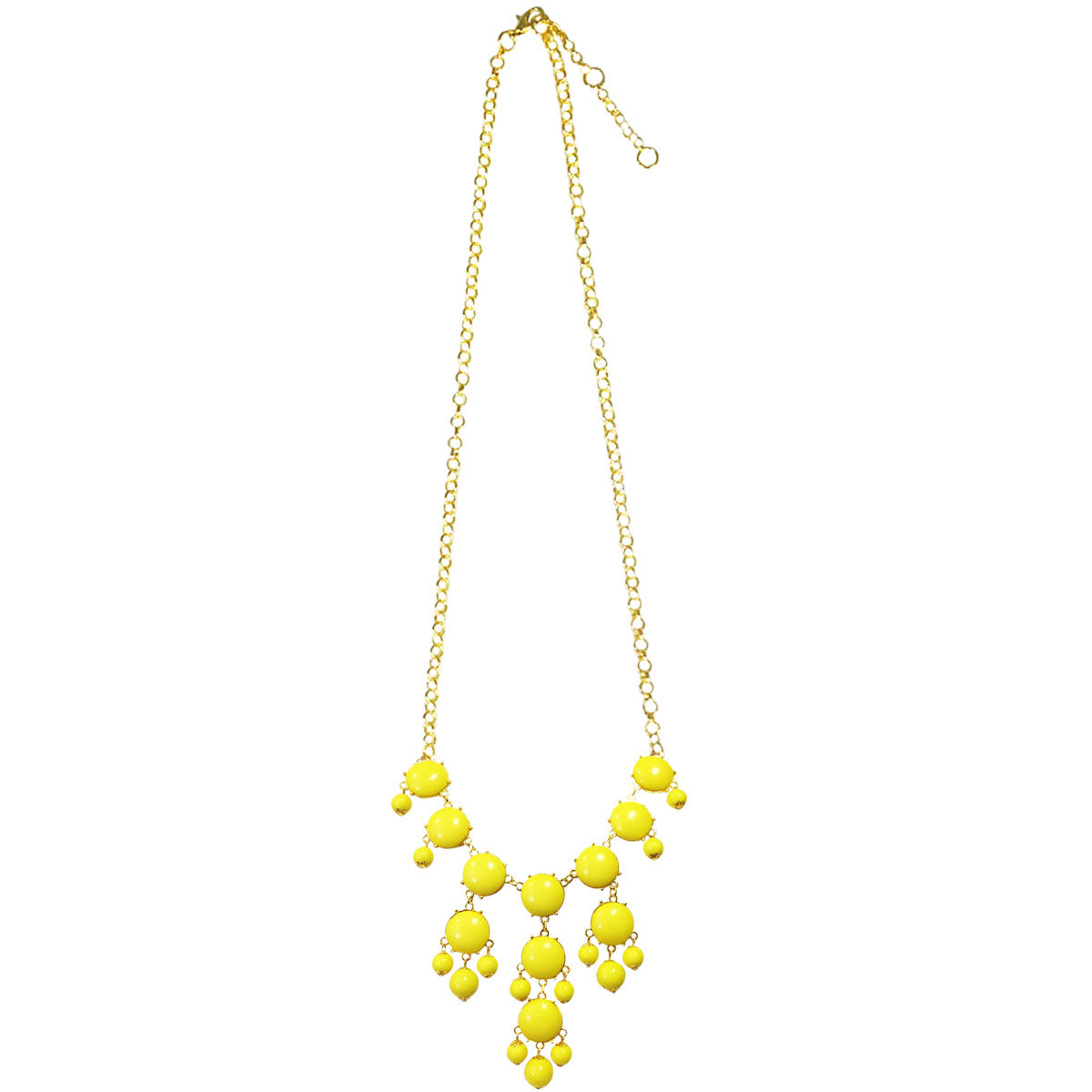 Medium Bubble Bib Statement Necklace, Yellow
