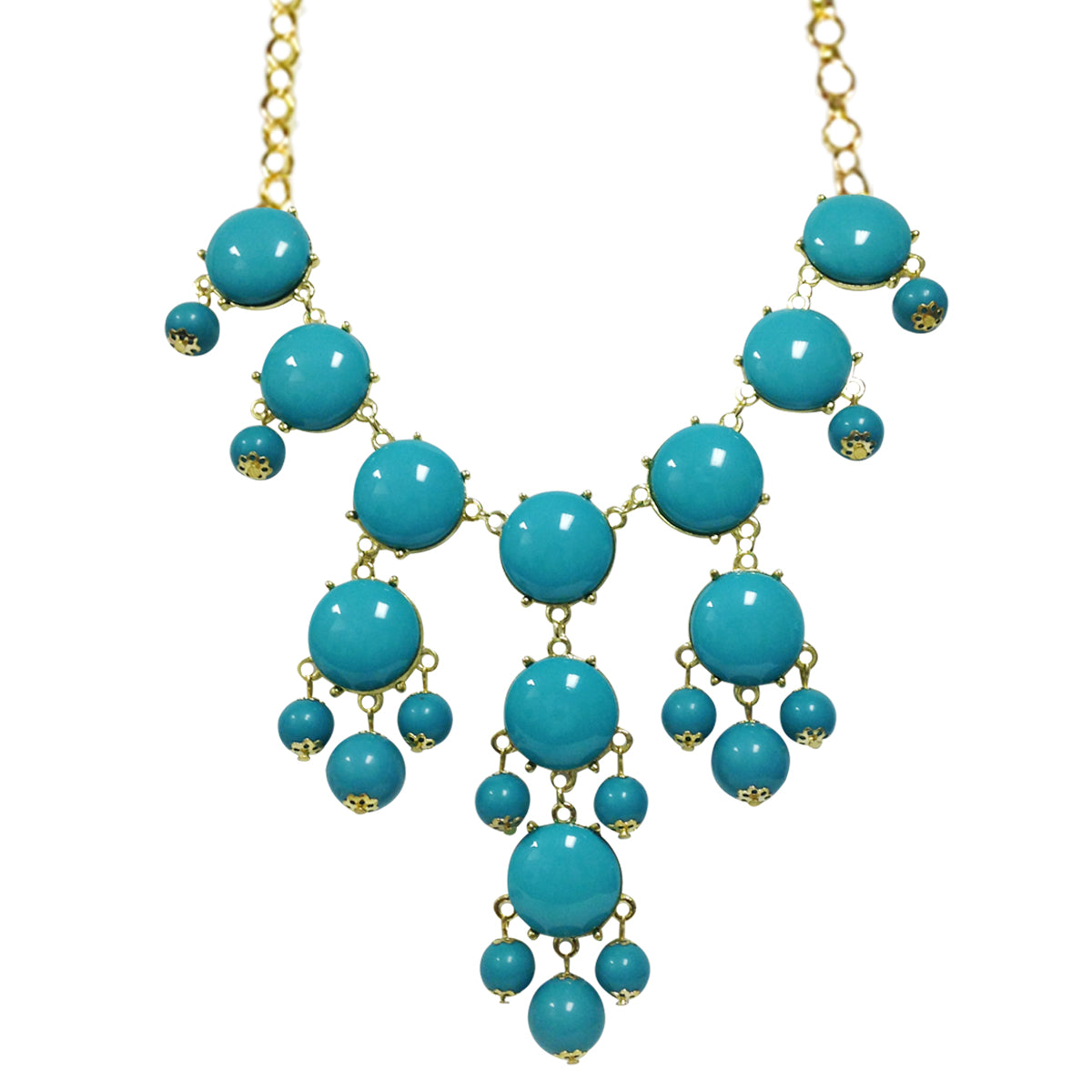 Wrapables Medium Bubble Bib Statement Necklace